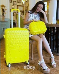 Hello Kitty 28 Trolley Set De Voyage Pour Valise En Abs De Haute Qualité - 6 Couleurs