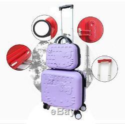 Hello Kitty Trolley Set De Voyage Pour Bagage En Abs De Haute Qualité - 5 Couleurs