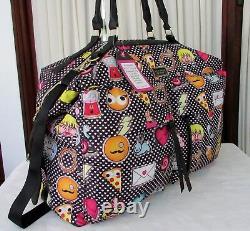 Johnson Betsey Emoji Weekender Duffle Bag, Sac À Dos Wristlet Luggage Set Tn-o