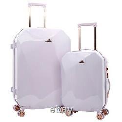Kensie Femme 2 Pièces Shiny Diamond Luggage Set, Lavender Tsa Spinner