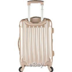 Kensie Luggage Set De Valises Rigides Extensibles Métalliques, 3 Pièces Nouveau