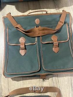 Lauren Vert Vintage Polo Ralph Brown Duffel Voyage En Cuir Sac Fourre-tout Luggage Set
