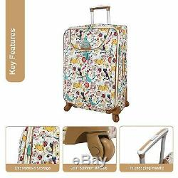 Lily Bloom Furry Friends Bagages Valise Set 4 Piece Spinner Nouveau