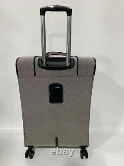 London Fog Manchester 4pc Light Bagage Set Exp Black White Herringbone Nouveau