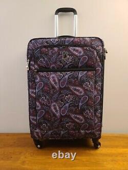 London Fog Purple Paisley Mayfair Spinner Luggage 3 Piece Set Purple Paisley
