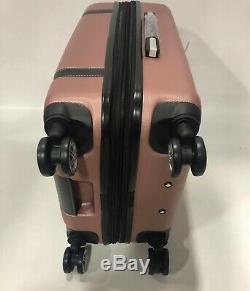London Fog Vintage Hardside Spinner Lightweight Bagages Rose D'or Extensible