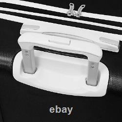 London Fog Vintage II Hardside Spinner Set À Bagages Léger Noir / Blanc