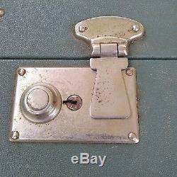 Lot De 2 Hartmann Vert Rare Vintage Avec Garniture En Cuir Valises Affichage Bagages