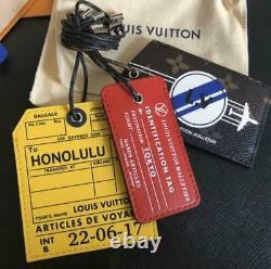 Louis Vuitton Luggage Name Tag Set Honolulu Édition Limitée Jamais Utilisé