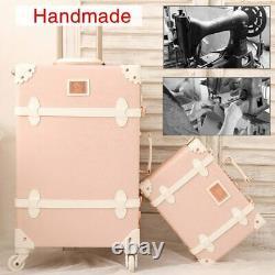 Maletas De Viaje Clásica Con Ruedas Para Mujer Travel Vintage Luggage Set Rose