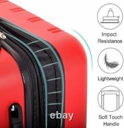 Merax 3 Pcs Set De Bagages Étui Extensible Pour Spinner Léger Côté Rigide Avec Ts