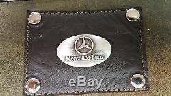 Mercedes Benz 3 Pièces En Cuir Bagages Set- Duffle, Messenger Et Kit De Voyage