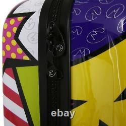 Mia Toro Italie Hard Side Luggage 3pc Ensemble 20, 24 - 28 Étoiles Et Baisers