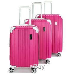Miami Carryon Collins Expandable Spinner Luggage Set (-2pc / 3pc Noir / Rose / Blanc)
