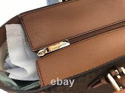 Michael Kors Gilly Large Jet Set Tavel Drawstring Tote Brown Luggag Signature Mk