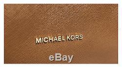 Michael Kors Jet Set Chaîne Voyage Top Zip Bagages Brown Fourre-tout En Cuir 30t6gj8t6l