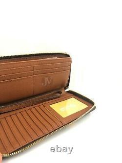 Michael Kors Jet Set Large Continental Travel Clutch Wristlet Wallet