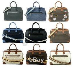Michael Kors Jet Set Signature Voyage Pvc XL Weekender Duffle Bag Carry On