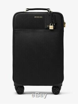 Michael Kors Jet Set Voyage En Cuir Saffiano Hardware Valise Or Noir