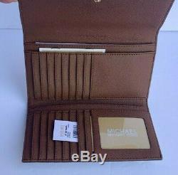 Michael Kors Jet Set Voyage Grand Trifold Wallet Mk Vanilla Brown (bagages)