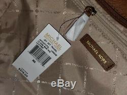 Michael Kors Jet Set Voyage Grande Chaîne D'épaule Fourre-tout En Cuir Brun Bagages 378 $