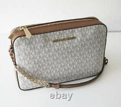 Michael Kors Sac /sac À Bandoulière Jet Set Item Lg Ew Crossbody Vanilla/luggage