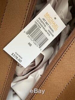 Michael Kors Signature Jet Set Grand Sac D'épaule Fourre-tout + Porte Bagages Brown
