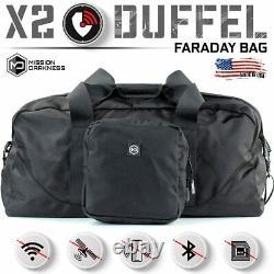 Mission Darkness X2 Sac Duffel Faraday + Ensemble De Blocage Rf De Poche Molle Amovible