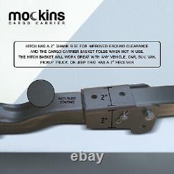 Mockins Hitch Mount Cargo Carrier & Net Set Extension Trailer Voiture Suv Bagages