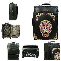 Montana Ouest De Crâne De Sucre Collection 3 Piece Luggage Set / Collection -noir