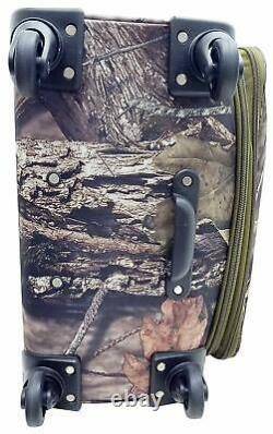 Mossy Oak 2 Piece Luggage Set Travel Hunting Outdoors Camping 360 Degree Wheels
