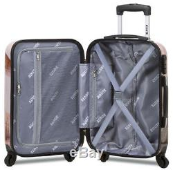 New Dejuno 3 Pièces Poids Léger Hard Shell Spinner Upright Luggage Set Vol