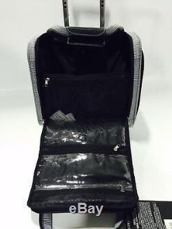 New London Fog Devonshire Light Luggage Set Extensible Noir Menswear Plaid