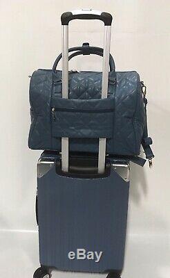 New Samantha Brown Dur Luggage Set Deep Blue 4pc À Roulettes Multidirectionnelles Extensible