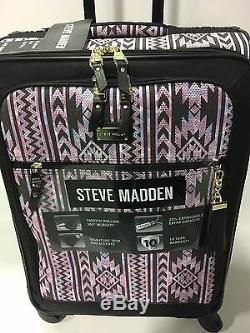 New Steve Madden Set De Bagages Noir Bagages Valise Spinner Enfant Sauvage