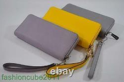 Nouveau Avec Tag Michael Kors Jet Set Travel Leather Continental Wallet Wristlet