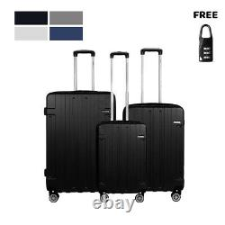 Nouveau Bagages Valise Cabine Set Carry On Noir Abs Spinner Lightwheight 302420