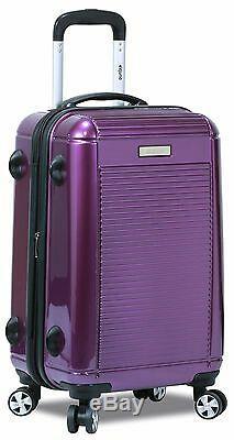Nouveau Dejuno Polycarbonate Vertical Hardshell 3 Pc Valises Bagages / Set -purple