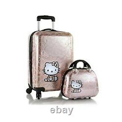 Nouveau Hello Kitty Luggage And Beauty Case Set 21 Inch Hard Sided Spinner Luggage