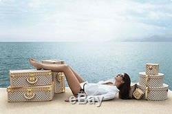 Nouveau Louis Vuitton Azur Alzer Beauty Case Set Hat Trunk Limitée Rare
