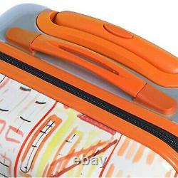 Nouveau Mia Toro Italie Izak-chic Voyage Hardside Spinner Rolling Bagage 3 Pièces
