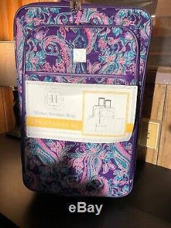 Nouveau Moderne. Du Sud. Accueil. Violet Paisley 5 Piece Luggage Set
