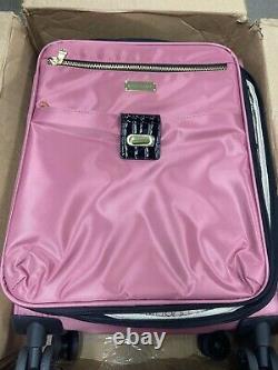 Nouveau Samantha Brown Spinner Suitcase Pink 5 Piece Set