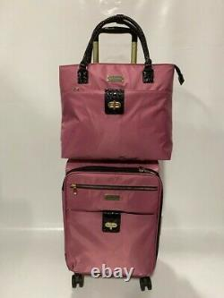 Nouveau Samantha Brown Ultra Lightweight 4 Pc Bagage Set Spinner Dusty Rose