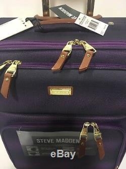 Nouveau Steve Madden Spinner Ombre Collection Luggage Set 840 $ Violet
