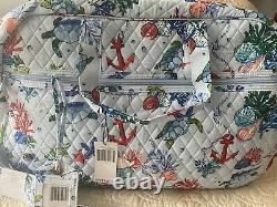 Nouveau! Vera Bradley Set Grand Traveler Bag Withluggage Tag Anchors Aweigh (164 $)