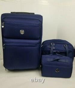 Nouvel Ensemble De Bagages Joy Mangano 3 Pc, Bleu
