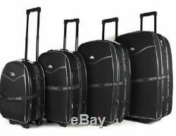 Nouvelle Série De 4 Roues Valises Trolley Voyage Bagages Valise Noir Set Royaume-uni