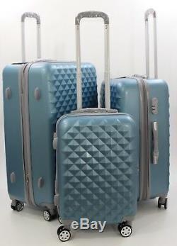 Nwt Argent Bleu Abs Hardcase Spinner Valise Valise Debout 202630 3pcs / Ensemble
