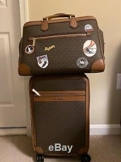 Nwt Authentique Michael Kors Valise Trolley Carry Sur Duffle Set Voyage 2 Aspen